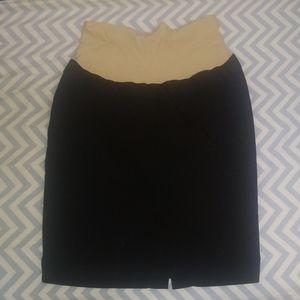 H&M Black Maternity Skirt - Size 4